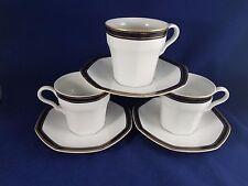 "Christopher Stuart  BLACK DRESS - Cup & Saucer 3 1/4"" Set of 3"