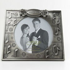 "Fetco Home Decor Photo Frame 'First Dance' Pewter Finish  Wedding  7"" x 6"""
