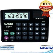 CASIO SL-787TV Big Display Metal Cover 8 Digits SL787TV Calculator Black