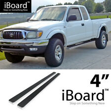 Running Board Side Step Nerf Bars 4in Silver Fit Toyota Tacoma Xtra Cab 95-04