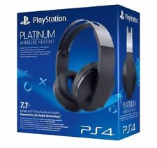 OFFICIAL SONY PLAYSTATION 4 - 7.1 HD PLATINUM WIRELESS HEADSET - NEW & SEALED