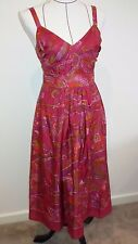 Sussan hot pink silk sun dress Size 6