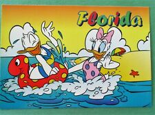 Daisy & Donald Duck Having fun in the Water by the Beach Disney Florida Postcard