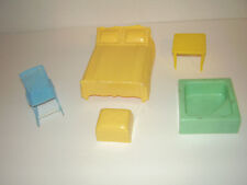 Vintage Plastic Doll House Furniture, Mixed Lot