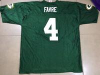 Men's BRETT FAVRE #4 NFL PLAYERS Sz 2XL Football Green Bay Packers JERSEY