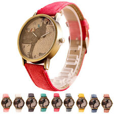 Women Mens Stylish Retro Clock Zebra Cowboy Leather Band Analog Quartz Watch New