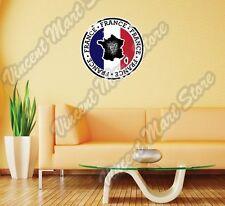 "France Map Flag Vintage Grunge Europe Wall Sticker Room Interior Decor 22""X22"""