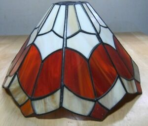 Tiffany Style Lamp Shade – Red and White