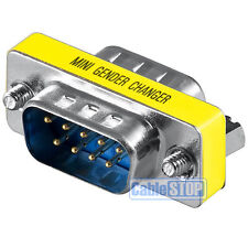 RS232 9 Pin Gender Changer MALE to MALE Converter Null Serial Cable Adapter