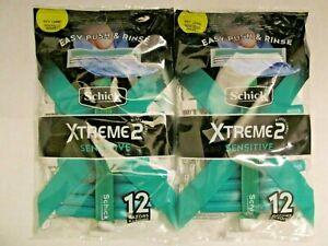 Two Packs Of Schick ST2/Xtreme2 Sensitive Razors (24 Razors)