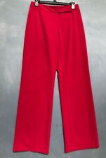 TAHARI ARTHUR S.LEVINE WOMEN'S EXTENDED-TAB RED TROUSERS SIZE 4