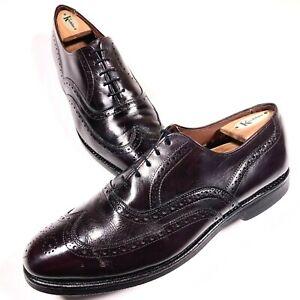 Allen Edmonds Chester Dark Burgundy Wingtip Dress Shoes Size 8.5 Men's