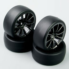 1:10 RC Speed Drift Racing Car Slick Tire & Wheel Set For HSP HPI C12M 4PCS