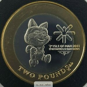 2011 Isle Of Man Youth Games £2 Tosha Two Pounds Uncirculated Toshi BUNC