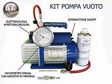 KIT POMPA VUOTO 42LT CONDIZIONATORE FRIGO GAS R134A R410A R407C R404 R600A R290