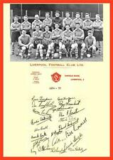 LIVERPOOL FC 1954-55 BILLY LIDDELL PHIL TAYLOR LAURIE HUGHES SIGNED (PRINTED)x20