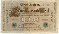 ALLEMAGNE GERMANY 1000 M reichsbanknote 1910 état voir scan 644