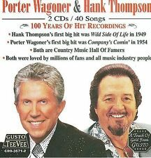 100 Years of Hit Recordings by Porter Wagoner/Hank Thompson (CD, Apr-2014, 2...