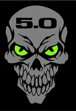 Ford Mustang Skull decal SVR Sticker 5.0 liter fox body GT Cobra Coyote Fastback