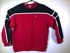 New listing Vtg 90S Nike White Tag Color Block Red Black Swoosh Sweatshirt Mens Sz Large