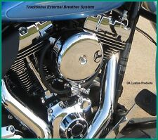 COMPLETE CRANKCASE HEAD CHROME BREATHER KIT FITS HARLEY TWIN CAM 4 STAGE 1 A/C