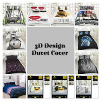 New 3D Effect Animal Print duvet cover set with Pillocases in single,Double,King
