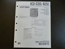 Original Service Manual  Sony HCD-D260 N250