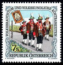 2192 postfrisch Österreich Jahrgang 1996 Schützen Tirol Schützenfest Tracht