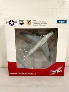 Herpa USAF Lockheed C-5A Galaxy 436th Military 1/500 Diecast Model Aircraft