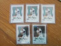 (5) 2011 BOWMAN CHROME AUSTIN MEADOWS ROOKIE LOT OF 5 CARDS -HOT ROOKIE