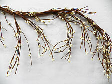 "Primitive Thin Wispy Cream-Off White 55"" Pip Rice Berry GARLAND Bendable"