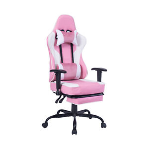 Office Computer Gaming Chair Adjustable Swivel Rose Home Chair Comfortable