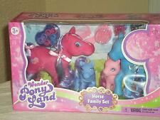 Wonder Pony Land Horse Family Set - 15 Piece