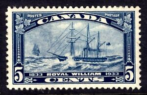 CANADA #204 5c DARK BLUE, 1933 ROYAL WILLIAM, MLH