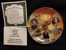 "Antique ""Gettysburg"" Battles of American Civil War authentic plateware #1042A"