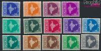 Indien 259-272 (kompl.Ausg.) postfrisch 1957 Landkarte (9137564