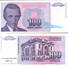 YUGOSLAVIA - 100 Dinara 1994 Nikola Tesla FDS UNC