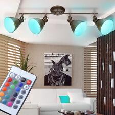 RGB LED Decken Lampe rostfarbig Wohn Zimmer Leuchte drehbar Fernbedienung Dimmer