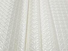 Tessuto Ecopelle Tappezzeria Prisma Bianco Seta mt. 0.50x1.40 - Leather Fabric