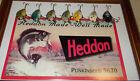 Seven Vintage HEDDON 9630 Punkinseeds with Retro Cardboard Box Display Top/ flat