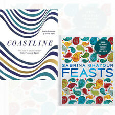 Coastline 2 Books Collection Set Feasts By Lucio Galletto & Sabrina Ghayour NEW