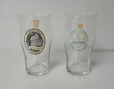 Guinness Beer Pint Glasses lot of 2 Stout and Extra Stout  Man Cave Bar