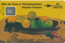 TELECARTE POLYNESIE PF5Aa GAUGUIN grand emboutis