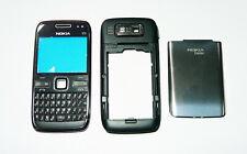 Black Silver Housing cover fascia facia faceplate skin case for Nokia E72