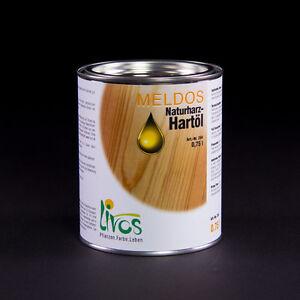 LIVOS MELDOS Naturharz-Hartöl 264; 750ml=27,20€/l; 2,5 l = 21,40€/l; 5l=18,90€/l
