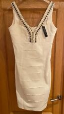 Julian Macdonald Embellished Cream Dress Size 16 New With Tags