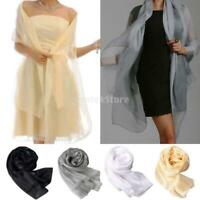 Fashion New Lady Women Long Soft Wrap Lady Shawl Silk Chiffon Scarf Scarves