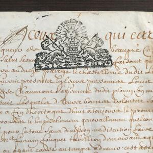 Parchemin Velin Acte Notarié Généralité de Rouen 1795 XVIIIè 18thC