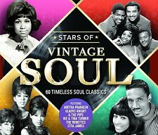 Stars of Vintage Soul feat. Ray Charles, Aretha Franklin, Mary Wells, 3 CD NUOVO