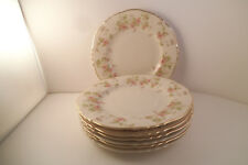 Vintage Syracuse China Federal Stansbury Pink Flowers Set of 7 Bread Plates